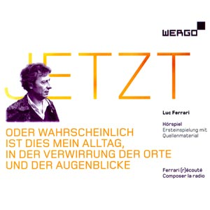 "Triple CD on Wergo around the Jetzt piece by Luc Ferrari. CD1 and CD2 include ""JETZT"" as ""radio play on the radio play"", a special case between music, radiophonic art and narrative radio play. CD3 includes new works based on the Jetzt materials by Tiziana Bertoncini, Antje Vo­winckel, Frank Niehusmann, David Fenech, and Neele Hülcker. Interviews of Luc Ferrari are also included + a 76 page booklet."